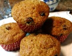 Fluffy 100% Whole Wheat Cherry Almond Muffins
